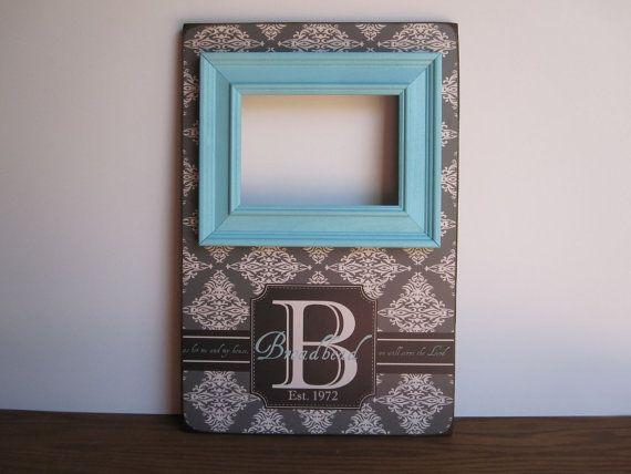 monogram picture frame monogram frame gift by createframes on etsy - Monogram Picture Frame