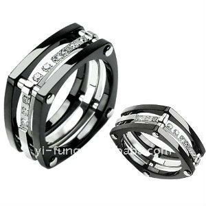 unique titanium ring wedding band with lab grade diamonds size 11 black knight buy 14ct white gold wedding ringdiamond2ct diamond ring product on - Man Wedding Rings