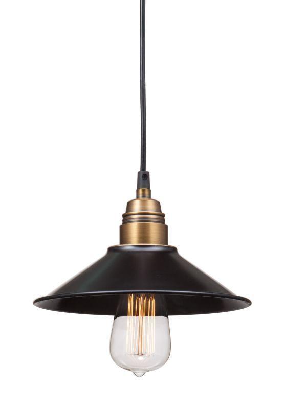 Zuo Modern Amarillite Pendant Amarillite 1 Light Pendant Black and Copper Indoor Lighting Pendants