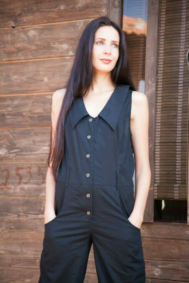 Jumpsuit by Evsey 100% cotton fabric
