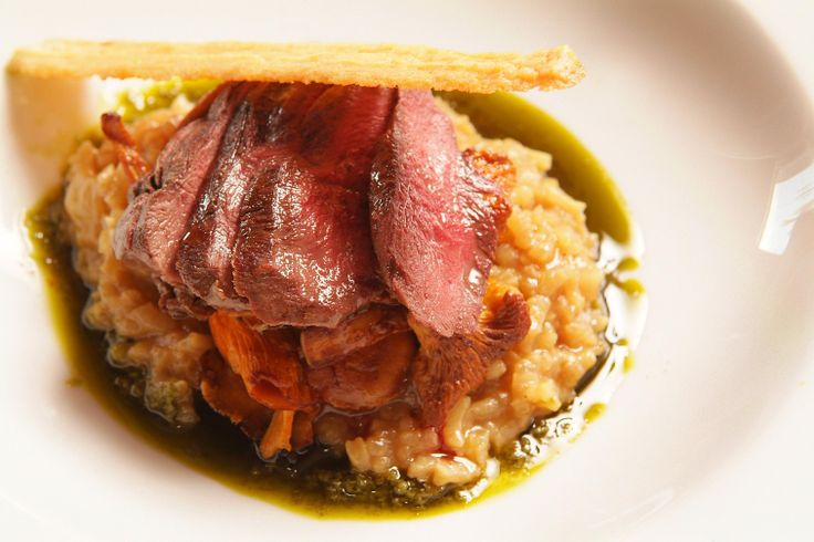 Risotto of Wild Wood Pigeon & Cep Sauce