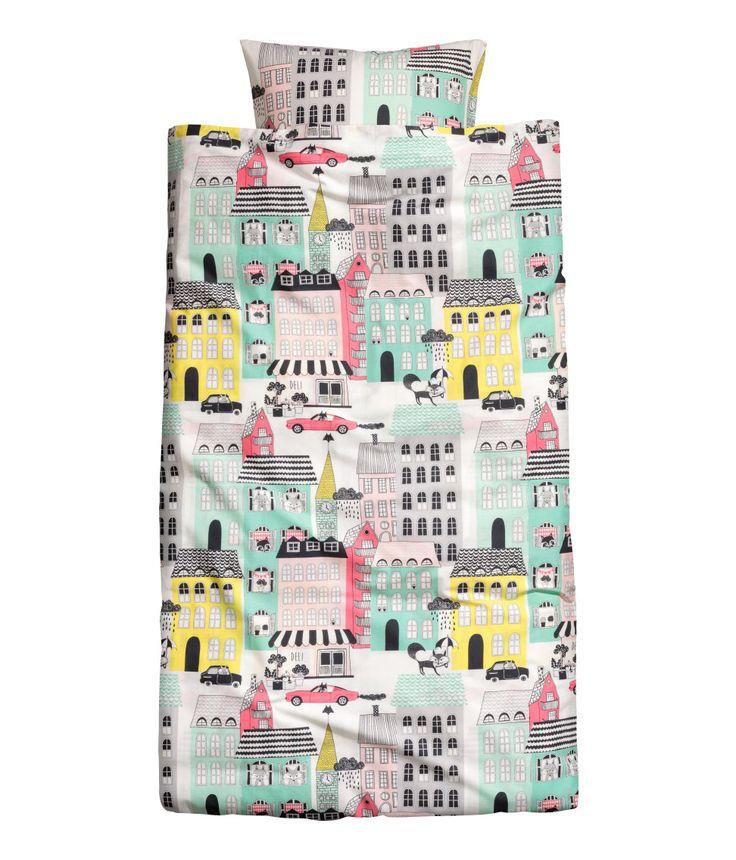 H&M Patterned Duvet Cover Set $29.99 | Duvet cover pattern ...