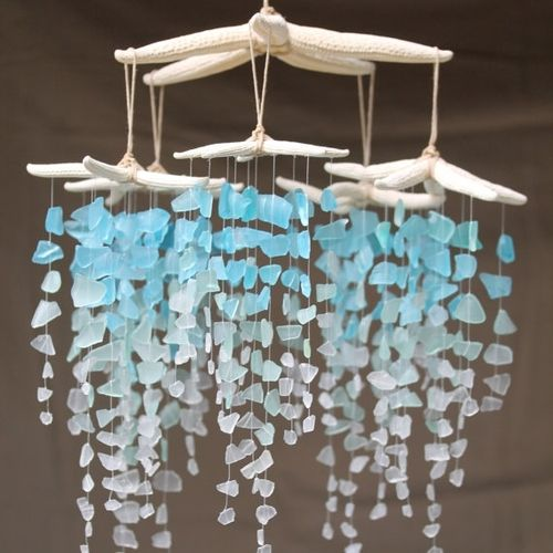 Sea Glass Wind Chime Creative Inspiration Pinterest