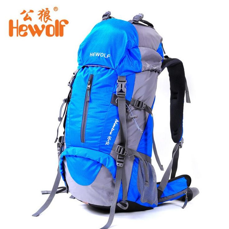 Hewolf Outdoor Camping 50L backpack Men and Women mountaineering bag rucksack riding equipment Hiking Travel backpack fishing
