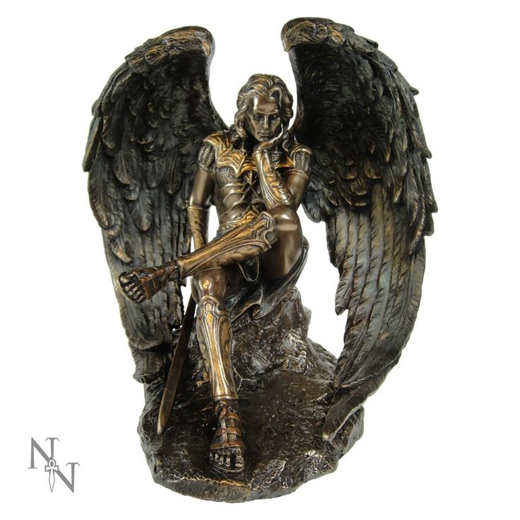 Lucifer The Fallen Angel W/ Sword Statue