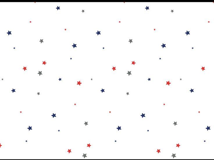 Behang sterren slaapkamer grijs rood blauw ster