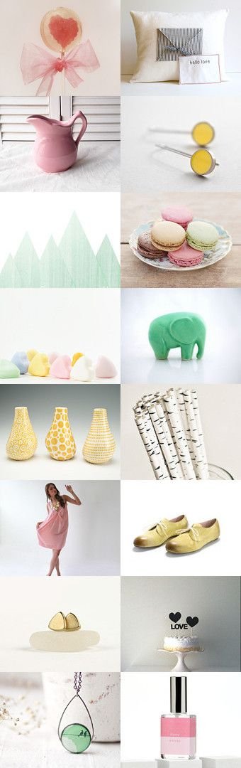 Love Letter  by Savenna Zlatchkine on Etsy-  #etsy #valentines #wedding #cake #pillow #decor #home #dress #pink #yellow #green #pastels #photography #kitchen #ceramics