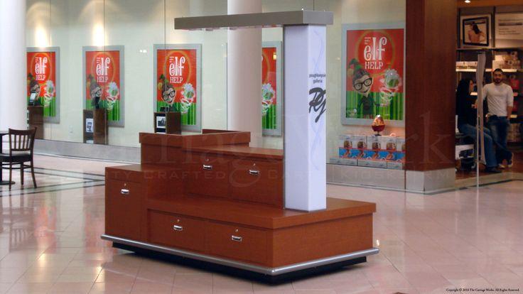 Indoor retail merchandising unit displayed at Poughkeepsie Galleria in New York.