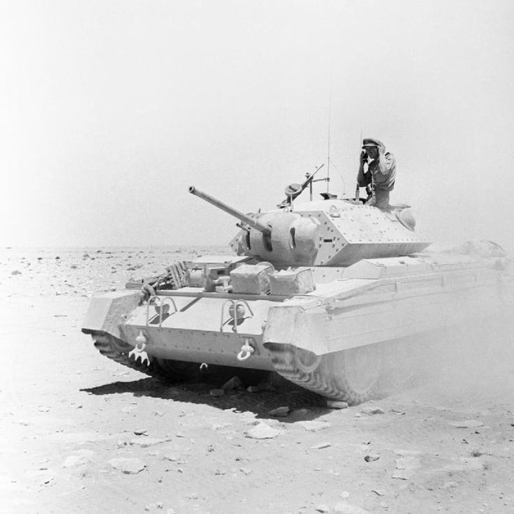 BRITISH ARMY NORTH AFRICA 1942 (E 14950)   A Crusader tank of the 22nd Armoured Brigade returning after action in the Western Desert, 28 July 1942.