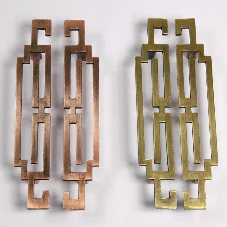pair of chinese style antique symmetry pulls knobs drawer kitchen cabinet knob antique brass dresser pulls antique