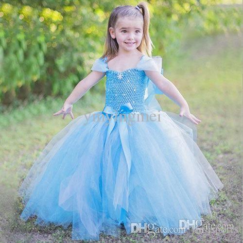 Online Cheap Kids Clothes Girls Tutu Dress For Children Vestidos Infantis De Festa Meninas Vestir Princesa Bebe Long Dresses Clothing Girls By Lin_sports | Dhgate.Com