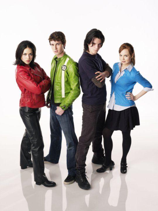 Still of Ryan Kelley, Alyssa Diaz, Nathan Keyes and Galadriel Stineman in Ben 10: Alien Swarm (2009) | Essential Film Stars, Ryan Kelley http://gay-themed-films.com/film-stars-ryan-kelley/