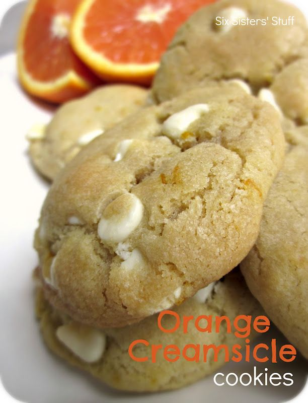 Orange Creamsicle Cookies.  The perfect cookie for summer!: Desserts Cookies, Creamsicle Cookies, Recipes Desserts, Orange Creamsicle, Perfect Cookies, Cookies Recipes, Six Sisters Stuff, Cookie Recipes, Summer Recipes