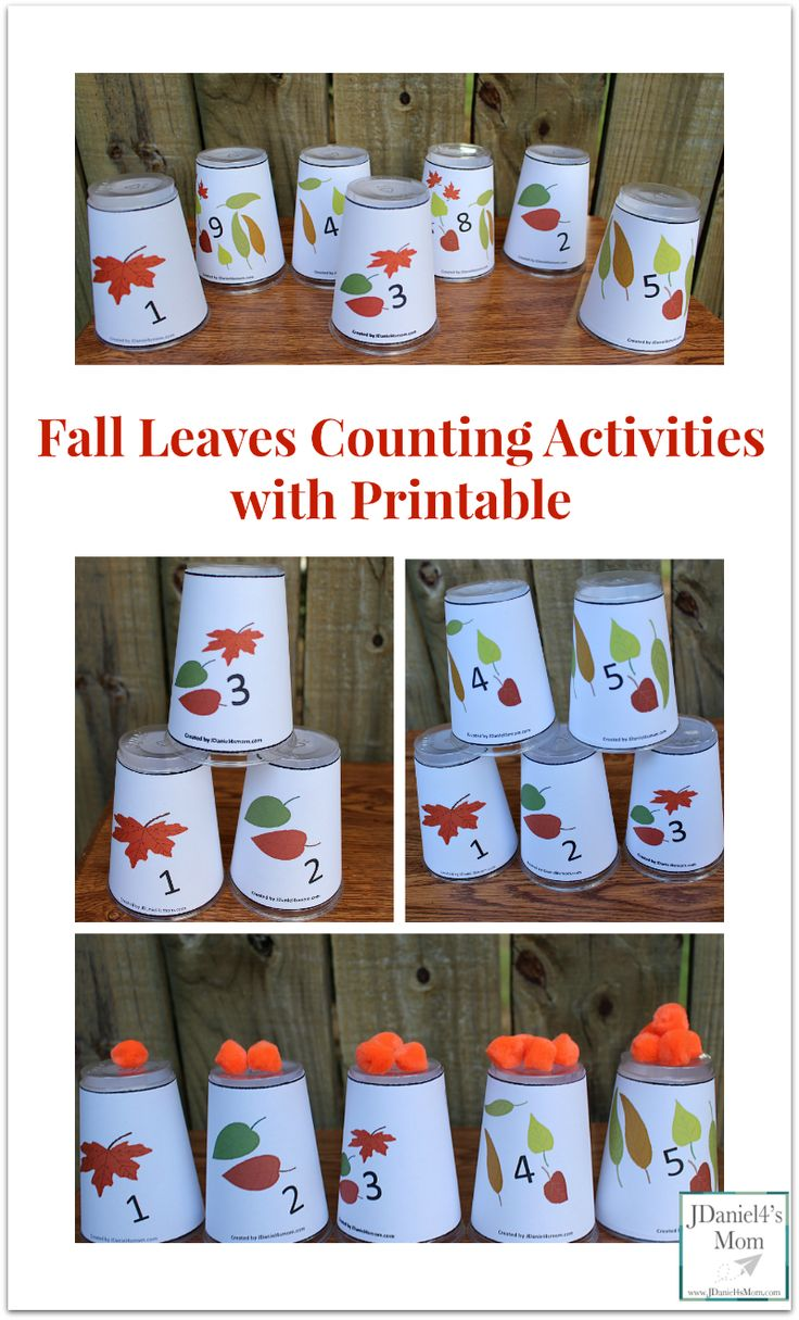 Fall colors activities for toddlers - Fall Leaves Counting Activities With Printable There Are A Lot Of Number Games You Can