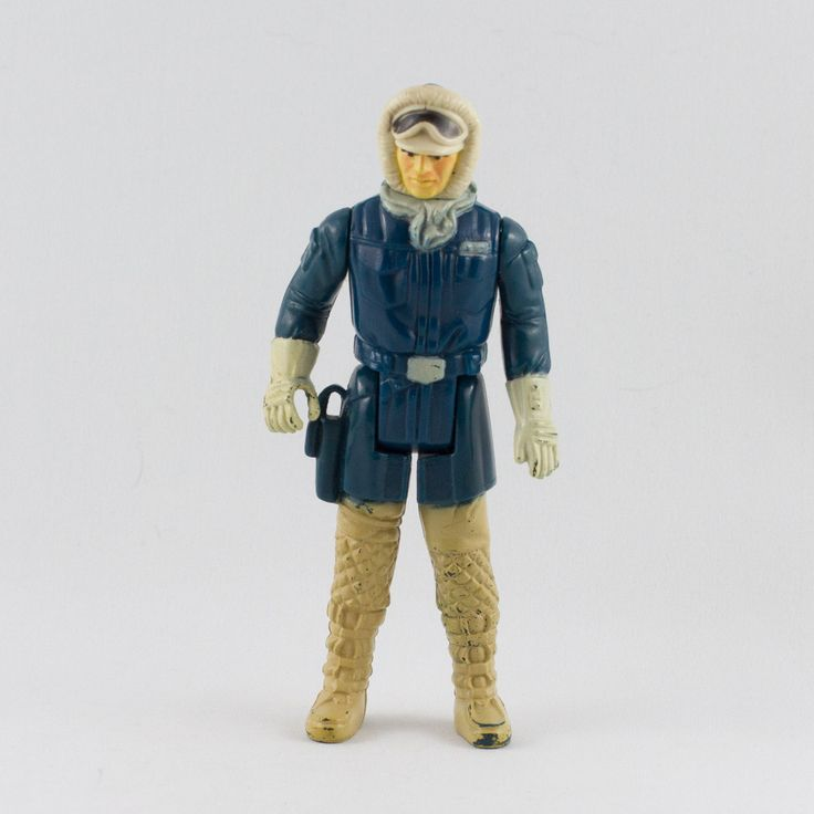 Han Solo (Hoth Battle Gear), This vintage Kenner Star Wars Han Solo (Hoth Battle Gear) action figure is in great condition and is an excellent addition to any collection. The limbs are very firm, allowing a wide range of poses. The paint finish is in great condition with only a few chips along the fingers and boots.