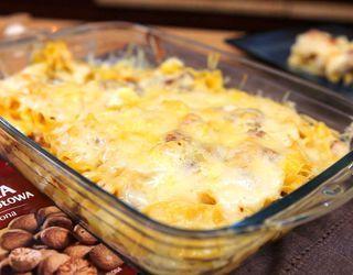 Zapiekanka z makaronu i kurczaka