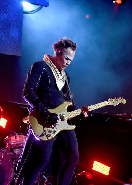 Luke Steele Photos Photos - Recording artist Luke Steele of music group Empire of the Sun performs onstage at KROQ Weenie Roast 2016 at Irvine Meadows Amphitheatre on May 14, 2016 in Irvine, California. - KROQ Weenie Roast 2016