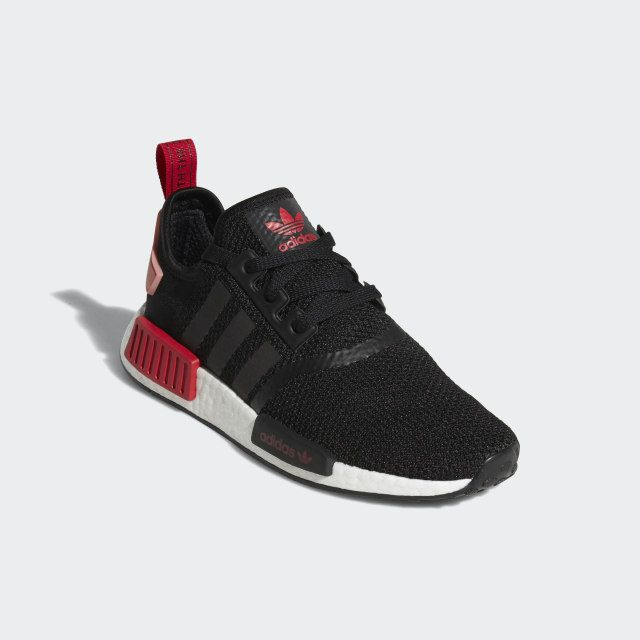 Nmd R1 Shoes Core Black Tactile Rose Bold Red D97088 Womens
