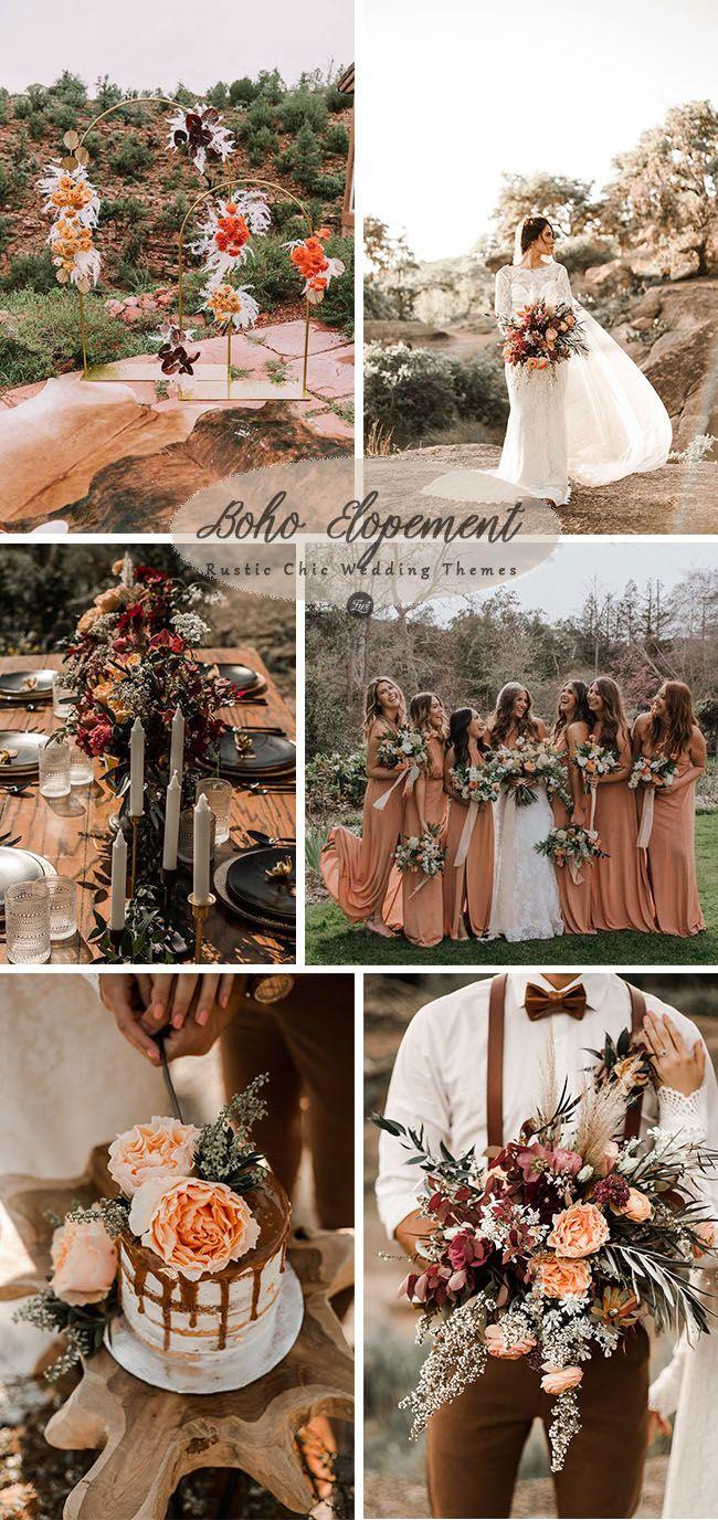 6 inspiring & trending modernized rustic chic wedding theme