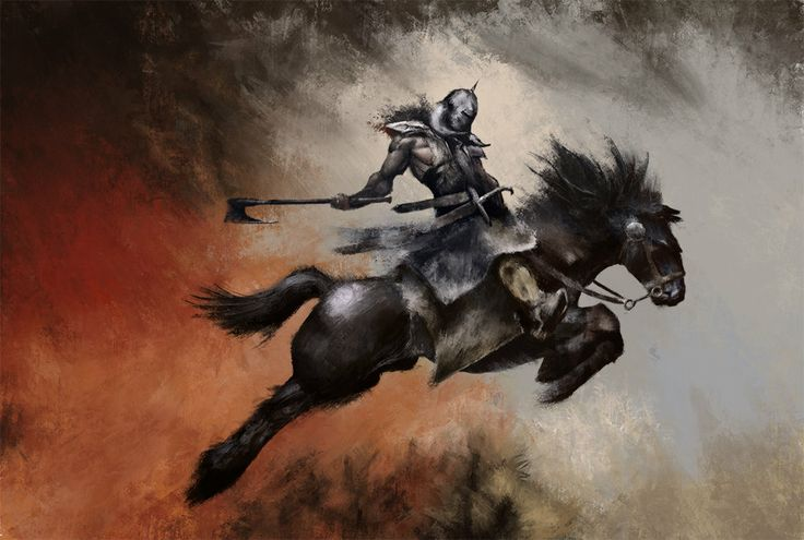 Eric Velhagen Study - Death Dealer #EricVelhagen #Art #Artwork
