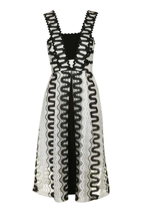 Rick Rack Detailed Midi Dress
