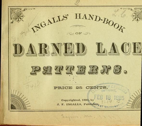 lace net darning instructions