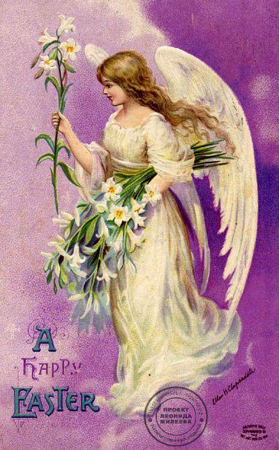 Ellen Clapsaddle пасхальная открытка