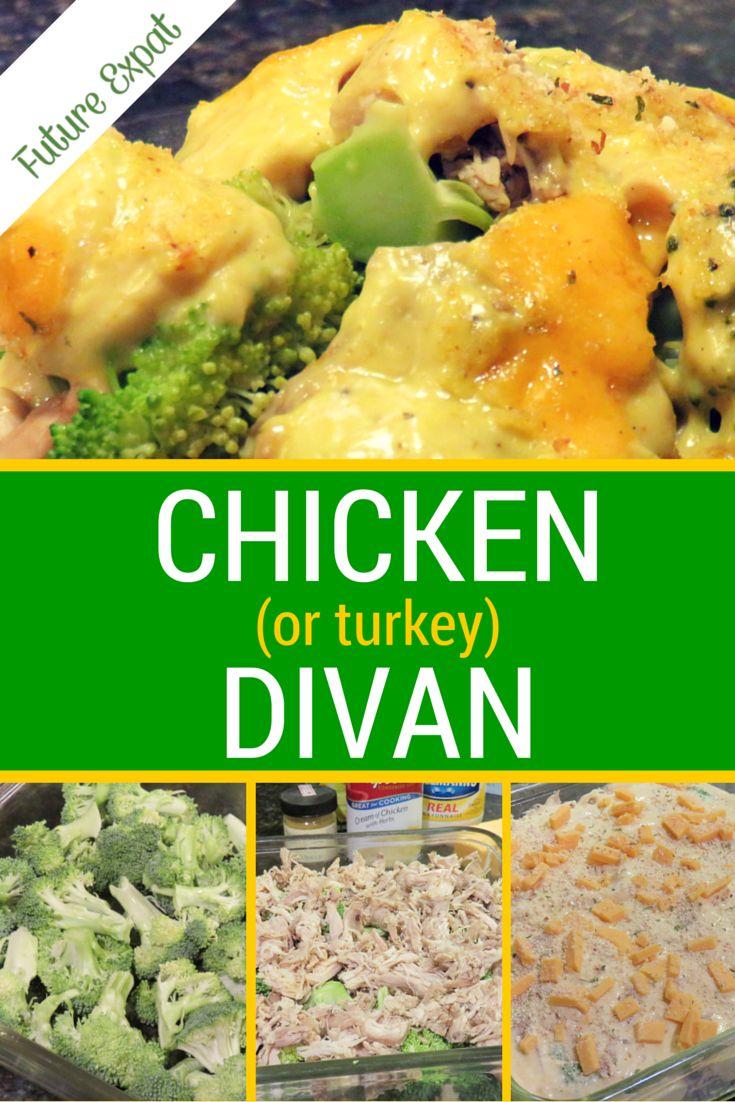 Chicken or turkey divan recipe cream soups and for Turkey divan