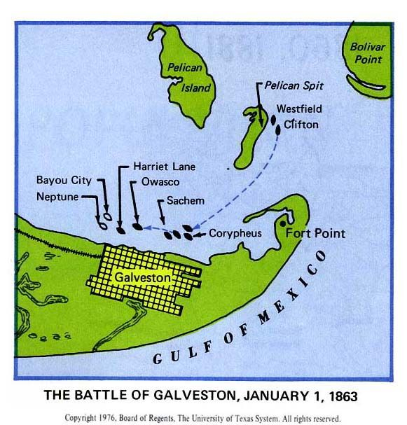 The Battle of Galveston - January 1, 1863
