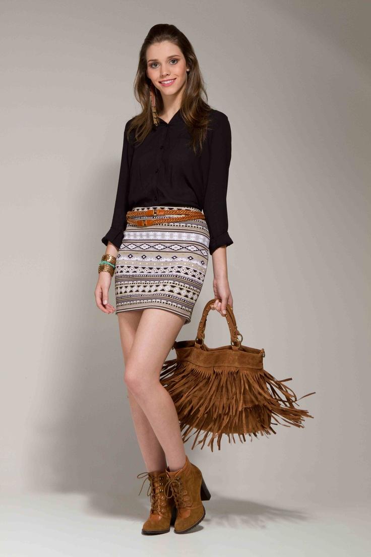 Saia Tribal:  Minis, Fashion, Moda Renner, Street Style, Style Girls, Estilo Renner, Saia Tribal, My Fashion, Moda Popular