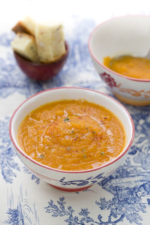 zuppa di carote e mela