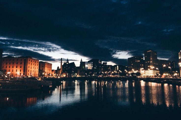 #skyline #Liverpool #AlbertDocks #sunset