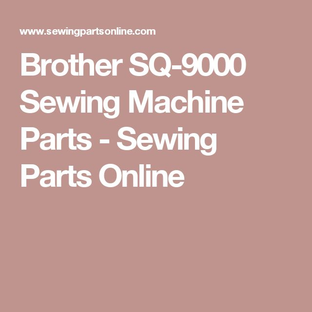 brothers sq9000 sewing machine