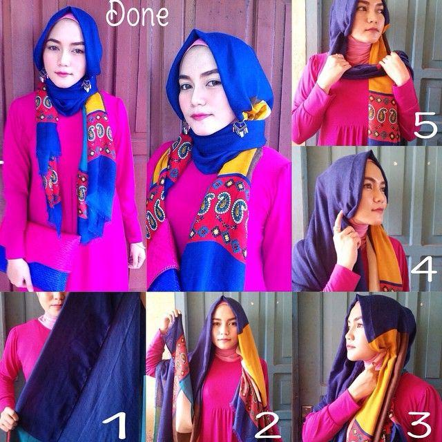 Beautiful Colorful Hijab Tutorial