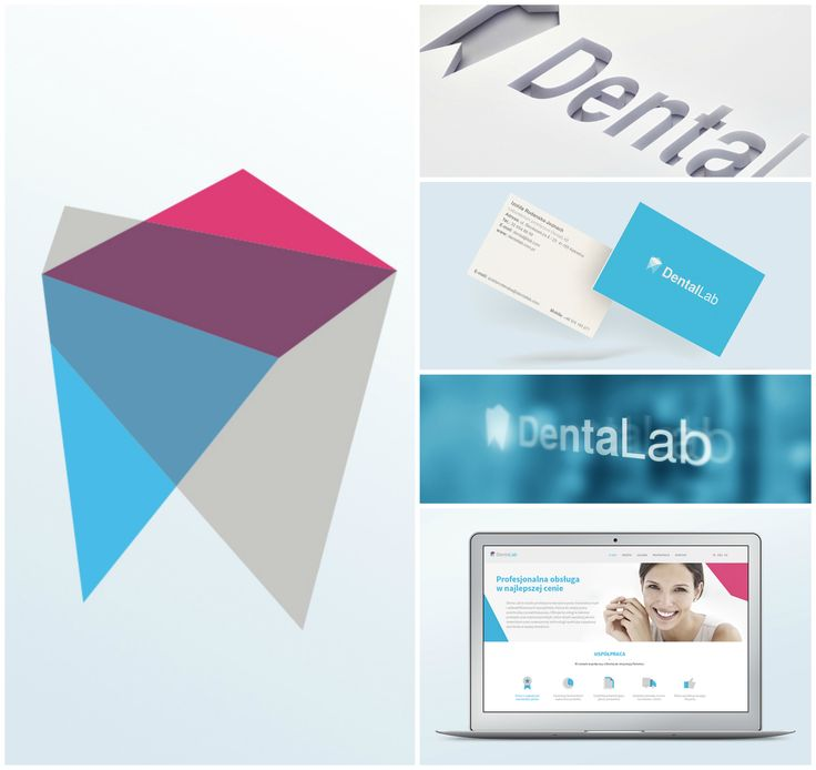 Denta Lab - protetic lab visual identity