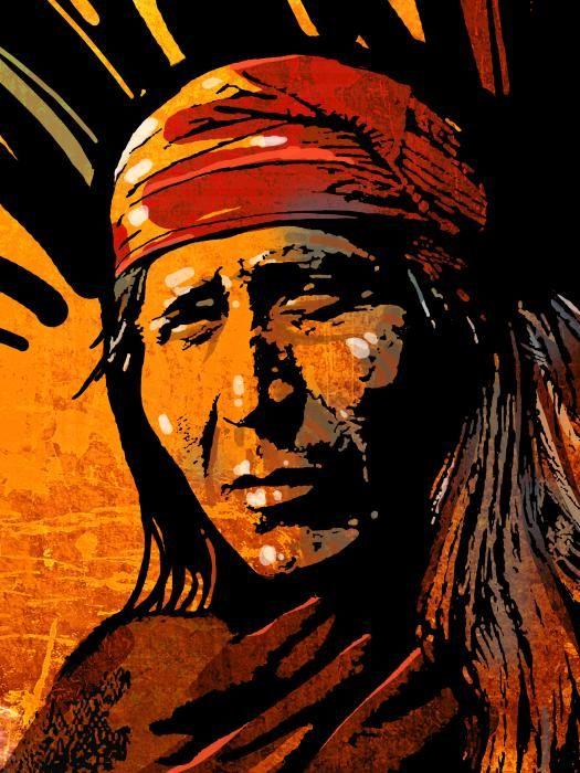 Apache Warrior Painting-  Paul Sachtleben