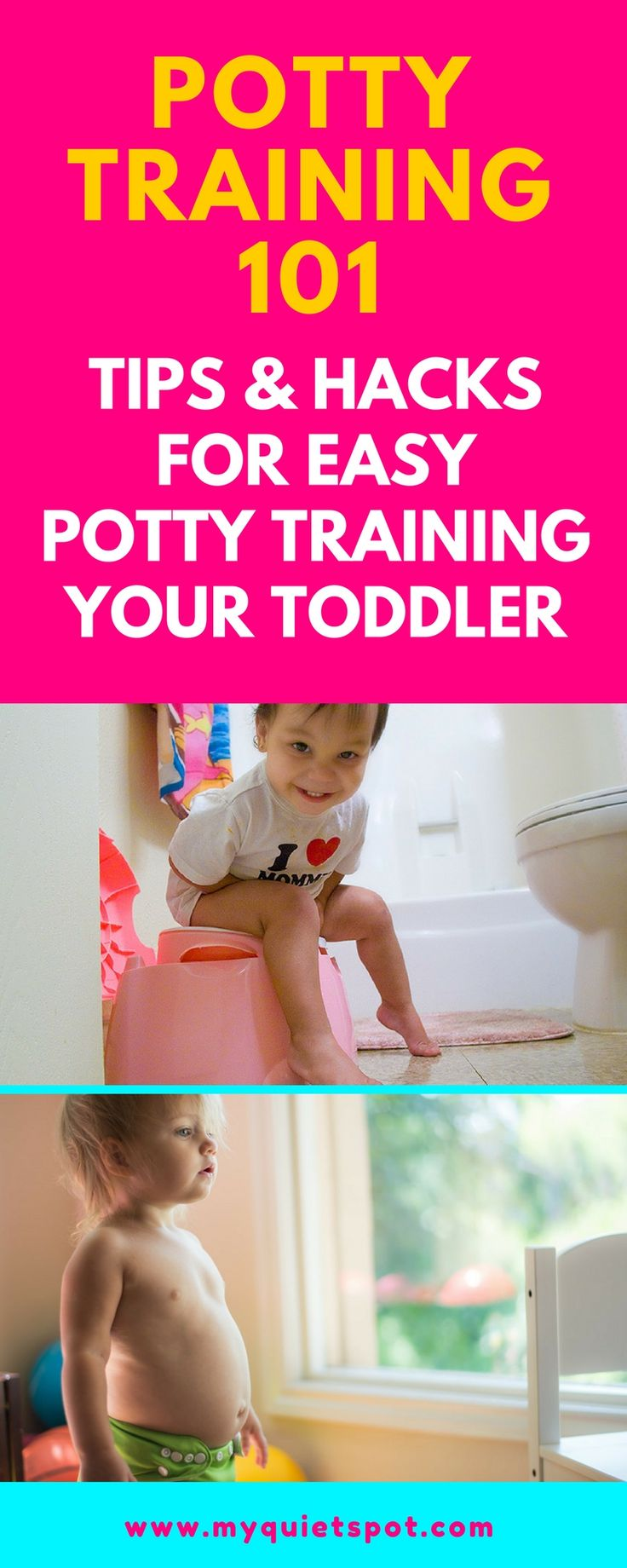 Potty training tips for toddlers.Easy tips and hacks that can help you potty train you kid without effort. | potty training |