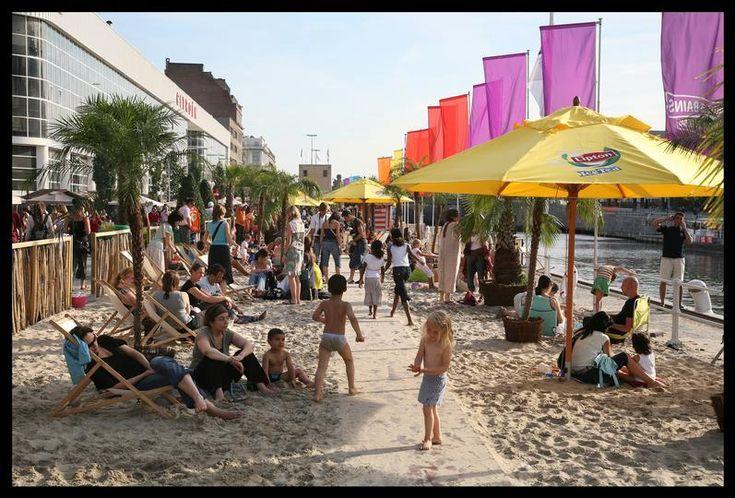 Brussel Bad! De haven van Brussel omgetoverd tot een badplaats! Geniet van allerlei activiteiten met de familie!