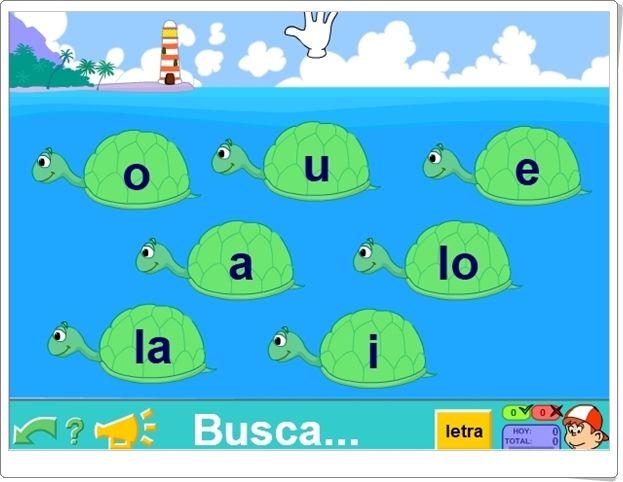 Las Tortugas Juego De Reconocimiento De Vocales De Pipo Actividades Interactivas Juegos Actividades