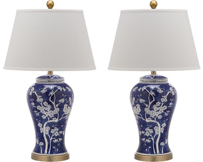 """Spring Blossom 17"""" H Table Lamp with Empire Shade"""