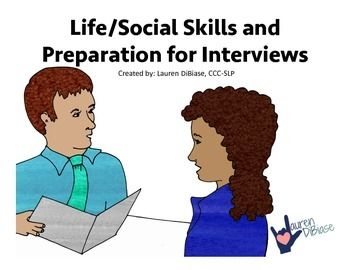 Are your young adult, special education students beginning to search for a job?  *50% off for the first 48 hours only!*Without the necessary social skills and life skills for a successful interview, employment is difficult.  This packet, mostly containing black and white pages for ease of printing, was created to help our life skills students prepare for interviews.