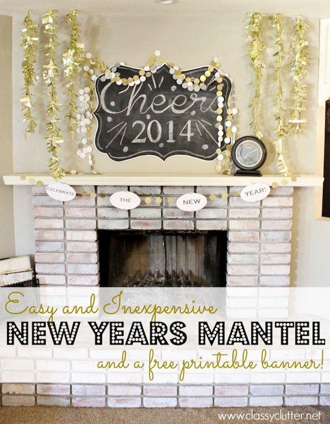 New Years Mantel