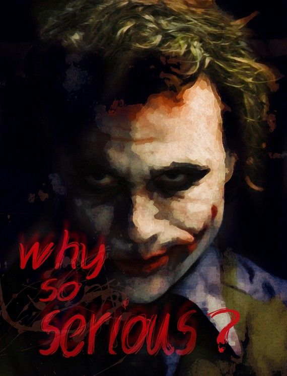 @Kostas Tsipos Love this of Heath Ledger as the Joker