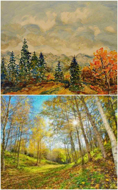 Culori de toamna - pictura si fotografie (imagini preluate din galeria Manufacturat.ro): www.manufacturat.ro