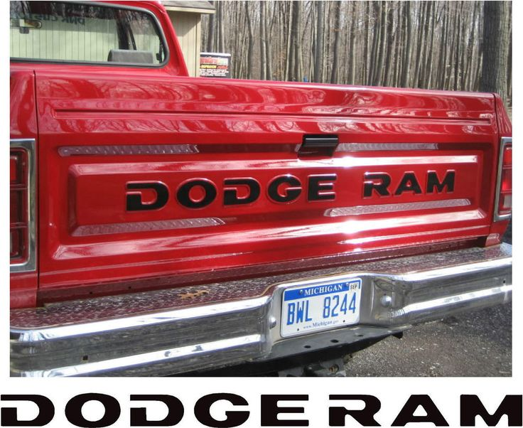 81-93 DODGE RAM FULL SIZE PICKUP TRUCK TAILGATE LETTERS DECALS STICKERS | eBay Motors, Parts & Accessories, Car & Truck Parts | eBay!