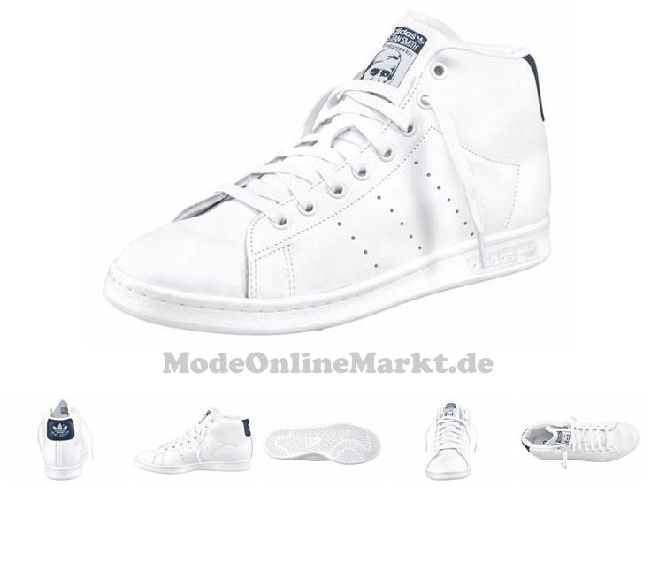 adidas originals damen stan smith mid sneakers weiß