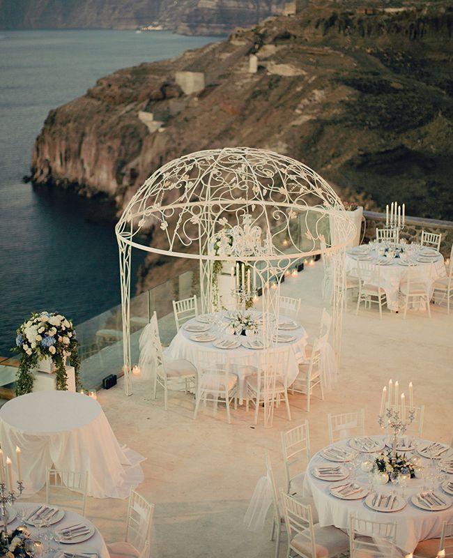 A Cavo Ventus Luxury Villa Destination Wedding in Santorini, Greece | Anna Roussos | blog.theknot.com