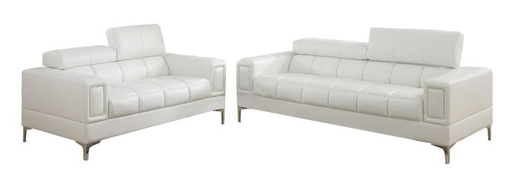 Bobkona Sierra 2 Piece Sofa and Loveseat Set