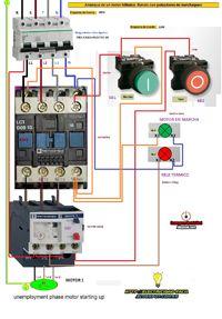 Esquemas eléctricos: motor trifasico mando con pulsadores marcha paro