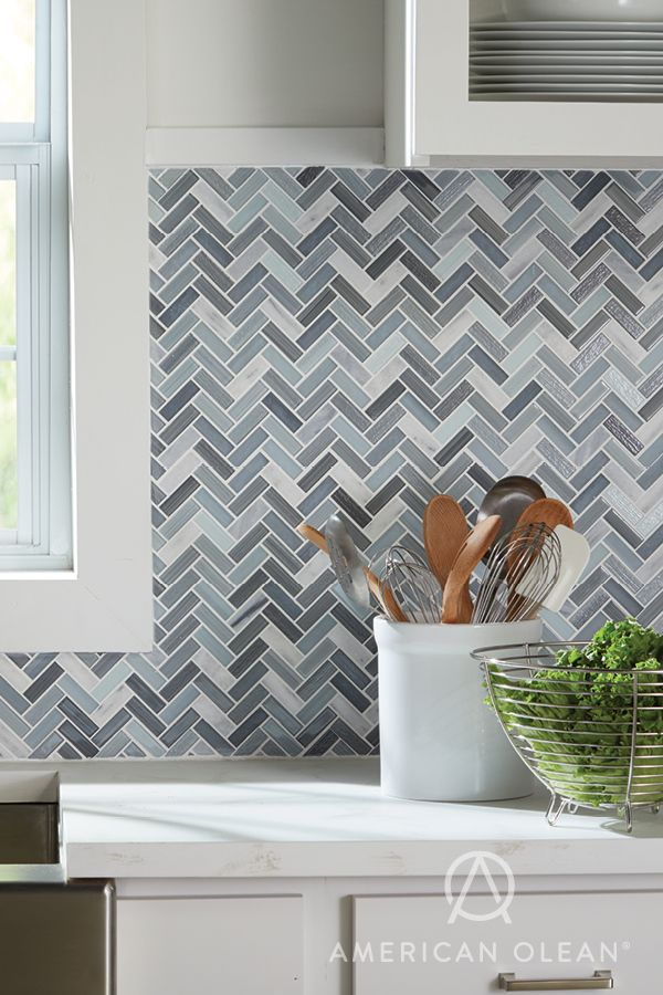 Our Serentina Tile Collection In Zen On This Kitchen Backsplash